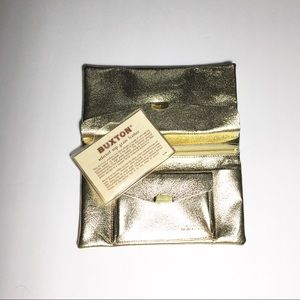 Buxton vintage champagne gold wallet leather